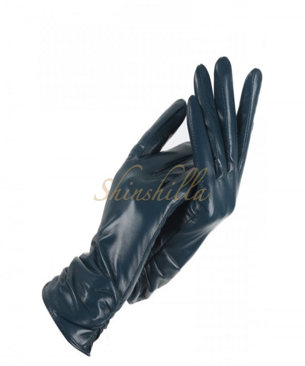 Перчатки длинные кожаные 45см