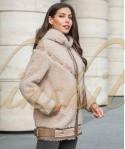 Куртка из 100% шерсти с кожей