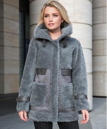 Куртка из 100% шерсти 80 см