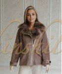 Косуха из 100% шерсти с мехом лисы 65 см