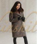 Пальто с песцом 90 см