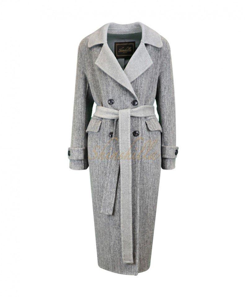 Пальто из 100% шерсти 110 см