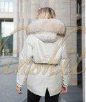 Куртка с мехом енота 70 см