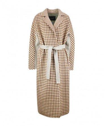Пальто из 100% шерсти 120 см