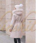 Пальто с пуховиком и енотом 100 см