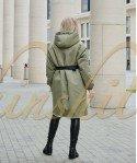 Двустороняя куртка из 100% шерсти 90 см