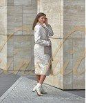 Двустороннее пальто из 100 % шерсти 110 см