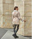 Двустороняя куртка-пиджак из 100% шерсти 70 см
