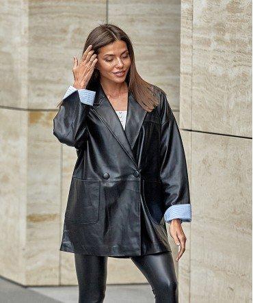 Пиджак кожаный 80 см