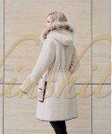 Куртка двусторонняя из 100% шерсти с енотом 90 см
