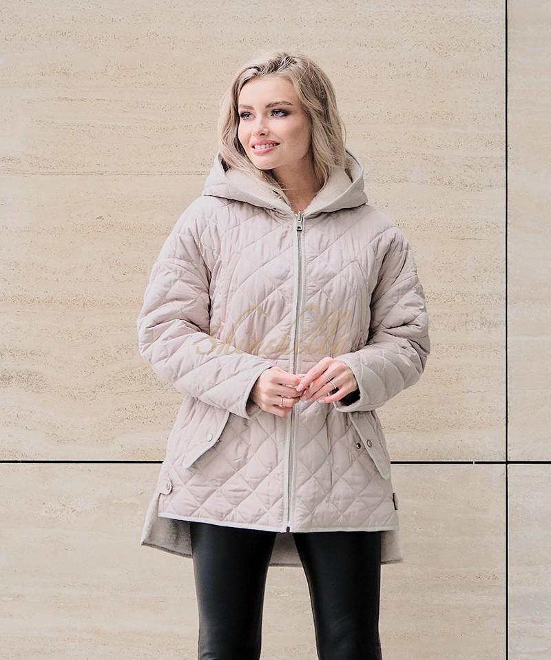 Куртка двусторонняя из 100% шерсти 75 см